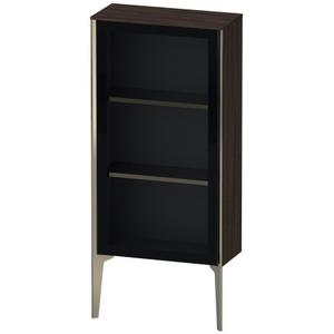Semi-tall Cabinet With Mirror Door Floorstanding, Chestnut Dark (decor)