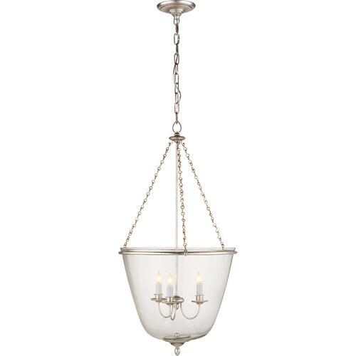 AERIN Pondview 3 Light 20 inch Burnished Silver Leaf Jar Lantern Ceiling Light, Medium