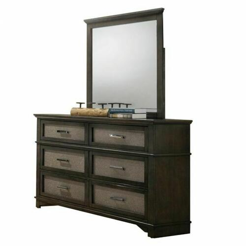 ACME Anatole Mirror - 26284 - Dark Walnut