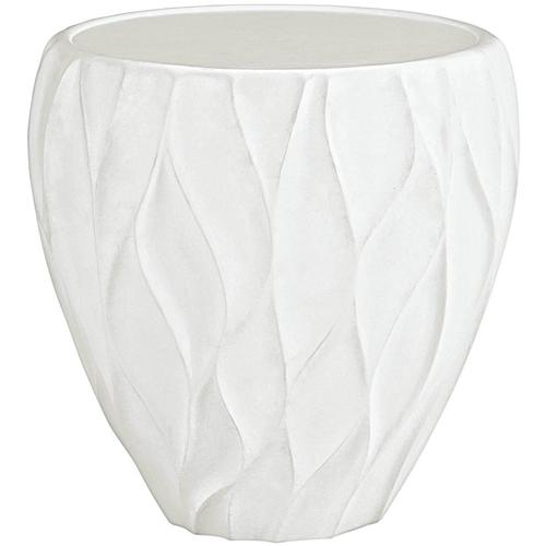 Giselle Chairside Table in Chalky White