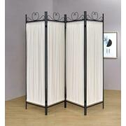 Traditional Black and Gold Four-panel Folding Screen Product Image