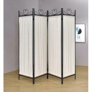 See Details - Traditional Black and Gold Four-panel Folding Screen