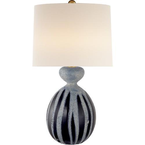 AERIN Gannet 29 inch 150 watt Drizzled Cobalt Table Lamp Portable Light