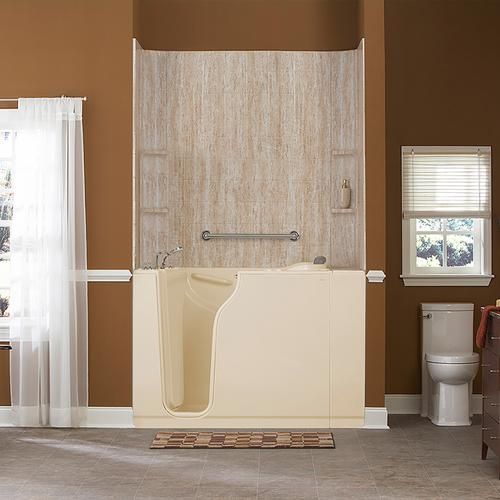 American Standard - 30x52-inch Walk-In Tub with Combo Air Spa and Whirlpool Systems  American Standard - Linen