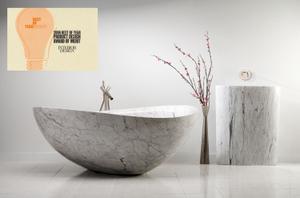 Papillon Bathtub Carrara Marble Product Image