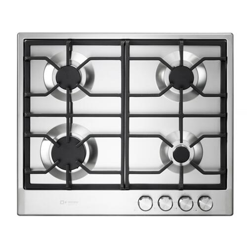"Verona - Verona 24"" Designer Gas Cooktop-Brass Burners SS"