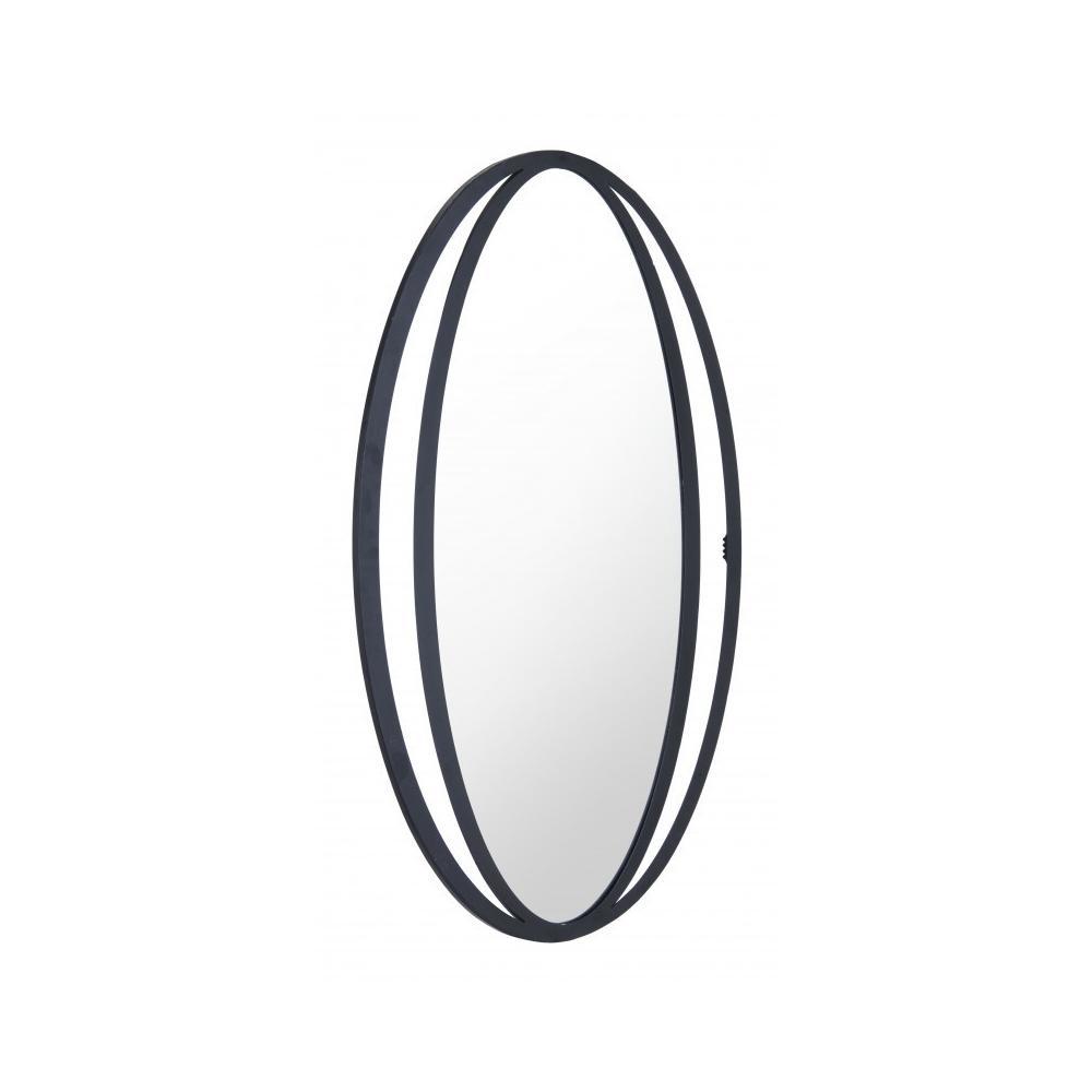 Leo Oval Mirror Black