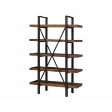 See Details - Industrial Wood Bookcase