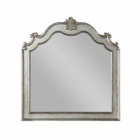 ACME Esteban Mirror - 22204 - Glam - Wood (Poplar), Poly-Resin, MDF, PB - Antique Champagne