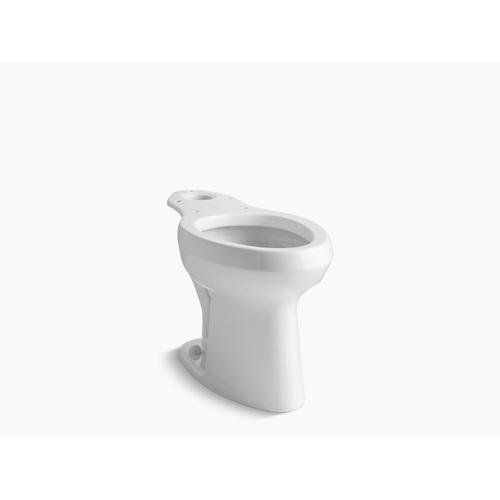 White Toilet Bowl With Antimicrobial Finish, Less Seat
