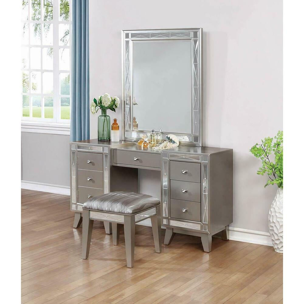 See Details - Leighton Contemporary Vanity Desk and Stool