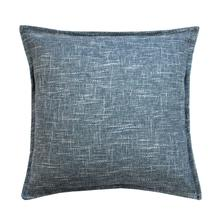 Burlap Cushion - Blue / 100% Duck Feather