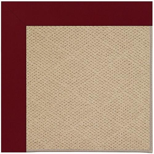 Creative Concepts-Cane Wicker Canvas Burgundy Machine Tufted Rugs