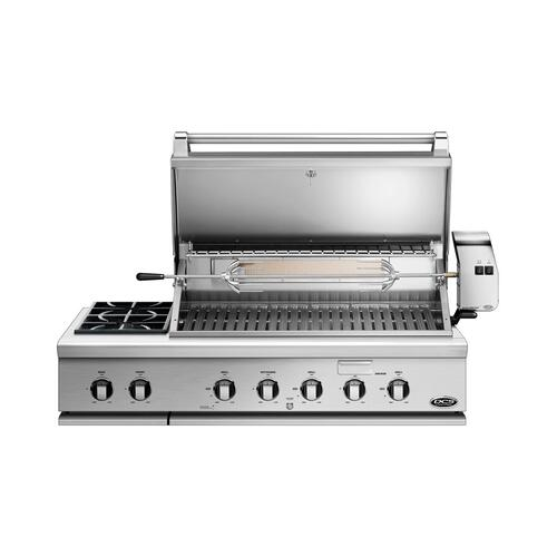 "48"" Grill, Rotisserie and Side Burners, Lp Gas"