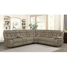 See Details - Camargue Casual Tan Motion Sectional