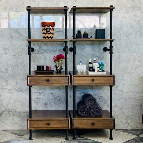 Stone Forest - Elemental™ Storage Set Cement Gray Wood / 36in / Matte Black