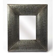 See Details - Hammered gray frame brings a touch of shimmering appeal to your ensemble, blending an industrial design with contemporary style, this mirror is perfect to bring dimension to your entry, hall or living area. There is no hanging hardware included for this item, and there is a hole you can use to hang with a nail.