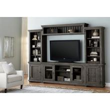 Wall Unit - Distressed Dark Gray Finish