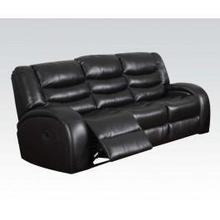 See Details - Black Bond Sofa W/motion @n