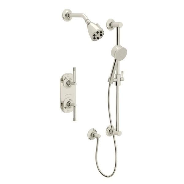 Polished Nickel GRACELINE THERMOSTATIC SHOWER PACKAGE with Metal Lever Graceline Series Only