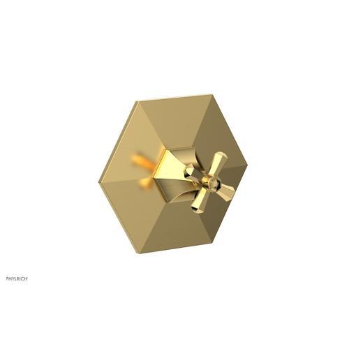 Phylrich - LE VERRE & LA CROSSE Thermostatic Shower Trim - Cross Handle TH171 - Satin Gold
