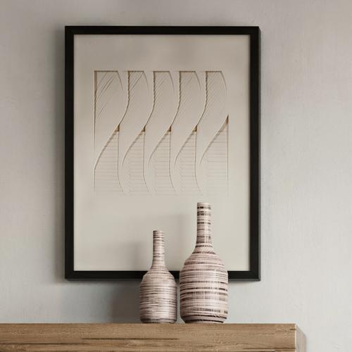 Howard Elliott - Dimensional Paper Twist Shadowbox Art