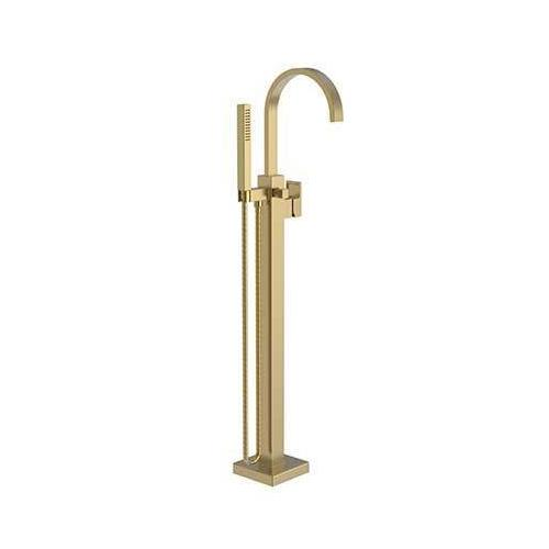 Newport Brass - Satin Bronze - PVD Exposed Tub and Hand Shower Set - Free Standing