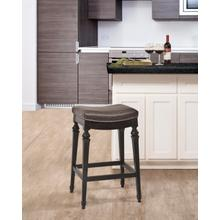 Vetrina Backless Non Swivel Counter Height Stool, Black With Gold Rub Finish