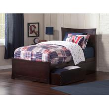 Metro Twin XL Bed with Matching Foot Board with 2 Urban Bed Drawers in Espresso