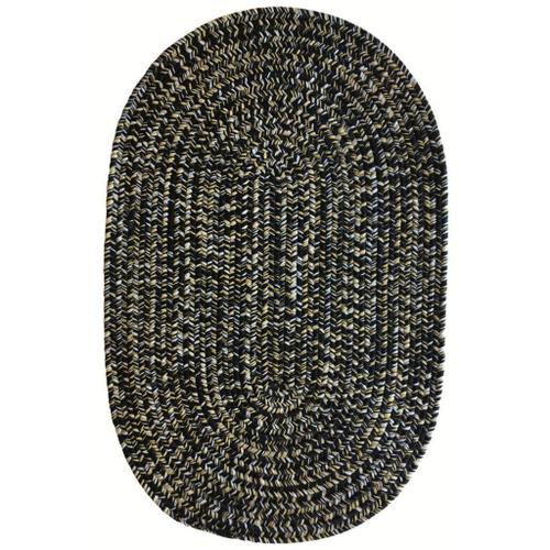 """Capel Rugs - Team Spirit Black Old Gold - Oval - 11'4"""" x 14'4"""""""