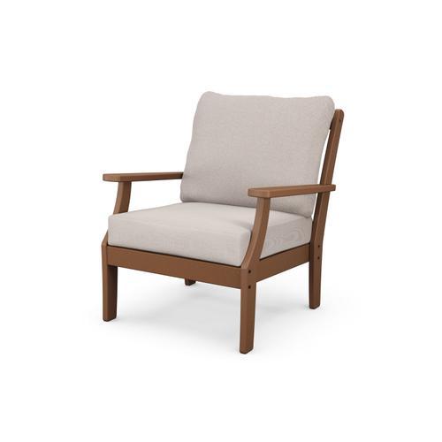Teak & Dune Burlap Braxton Deep Seating Chair