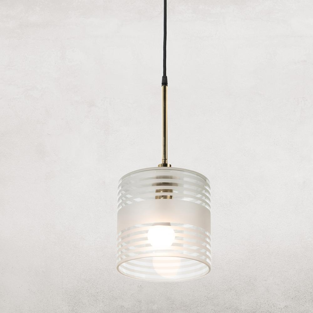 See Details - Hartwell Pendant-frosted Detailed Glass