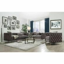 ACME Gillian II Sofa w/3 Pillows - 53385 - Dark Gray Velvet
