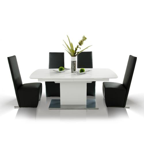 Gallery - A&X Centro Modern White Crocodile Dining Table