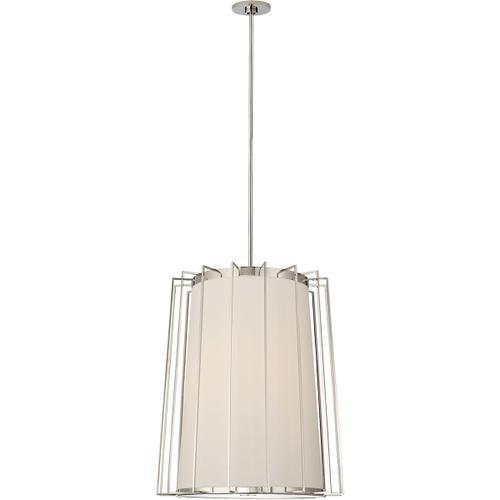 Barbara Barry Carousel 2 Light 24 inch Polished Nickel Lantern Pendant Ceiling Light, Medium Tapered