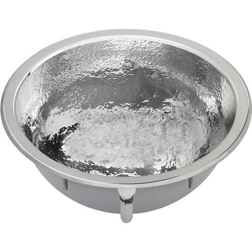 "Elkay Asana Stainless Steel 16-3/8"" x 16-3/8"" x 7"", Single Bowl Dual Mount Bathroom Sink"