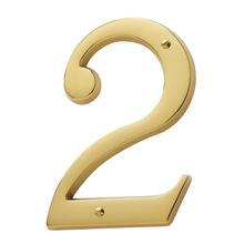 Lifetime Polished Brass House Number - 2