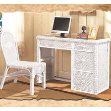 Santa Cruz Desk & Chair Set - White Finish