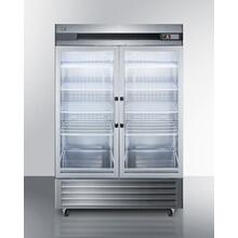 49 CU.FT. Commercial Reach-in Refrigerator In Complete Stainless Steel With Glass Doors