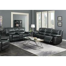 Lee Transitional Black Leather Reclining Two-piece Living Room Set