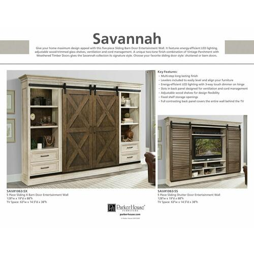 SAVANNAH Center Sliding Wall Top