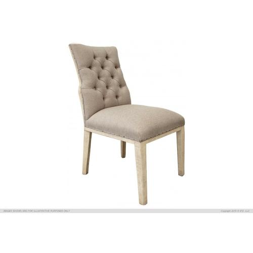 Tufted Chair w/ deconstructed back