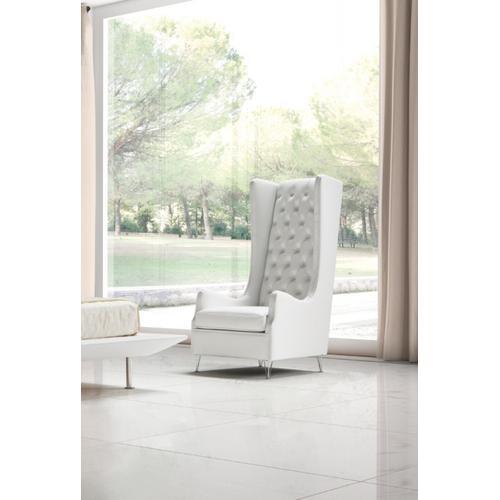 Gallery - Estro Salotti Vanity Modern White Leather Lounge Chair