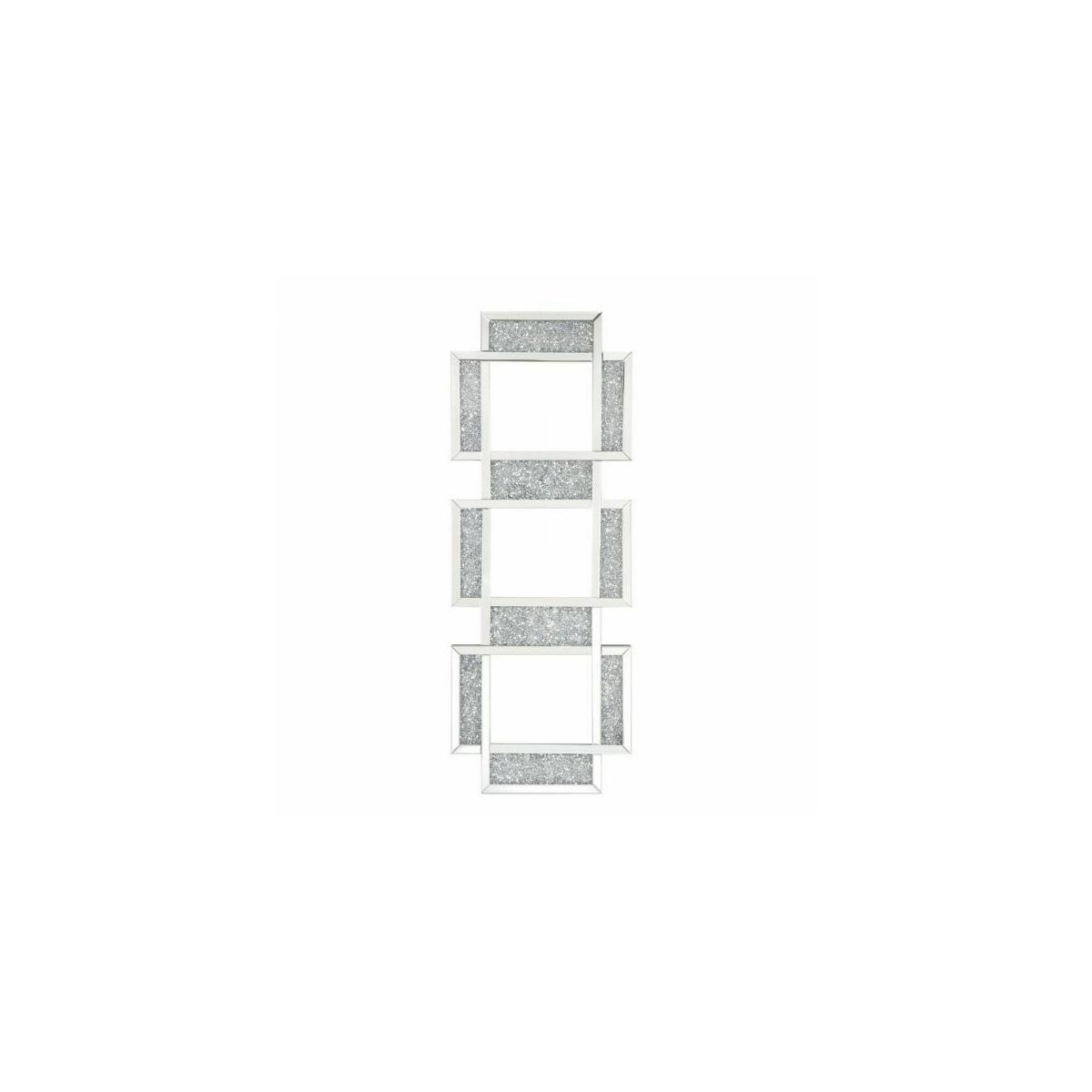 ACME Noralie Wall Decor - 97721 - Glam - Glass, MDF, Faux Diamonds (Acrylic), LED - Mirrored and Faux Diamonds
