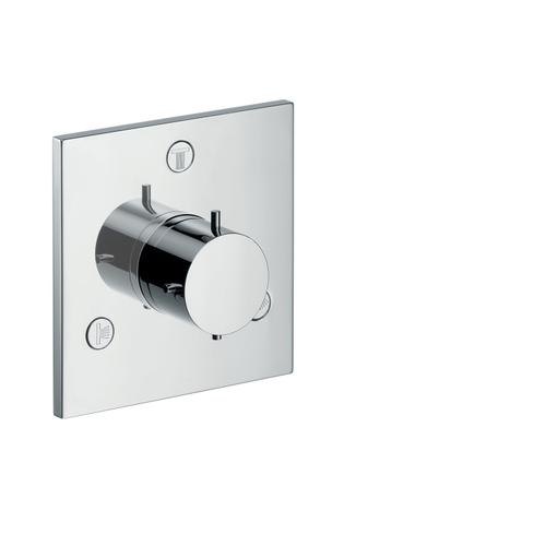 Brushed Nickel Shut-off/ diverter valve Trio/ Quattro for concealed installation