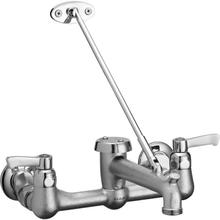 View Product - Elkay Commercial Service/Utility Wall Mount Faucet with Bucket Hook Rough Chrome