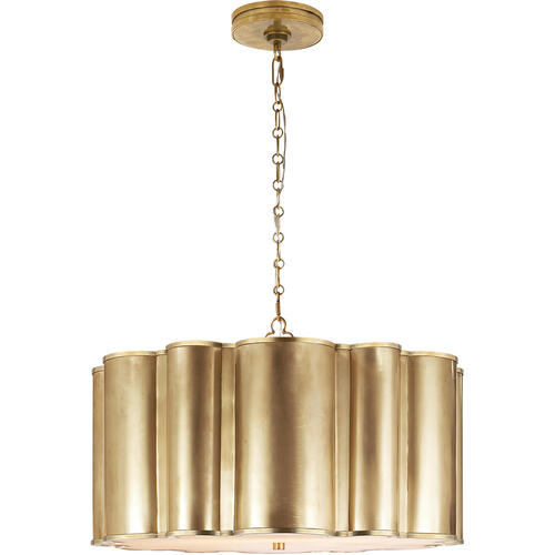 Visual Comfort - Alexa Hampton Markos 4 Light 26 inch Natural Brass Pendant Ceiling Light