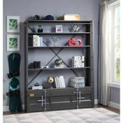 ACME Cargo Bookshelf & Ladder - 39887 - Gunmetal Product Image