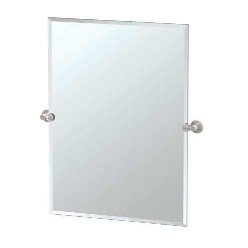 Channel Rectangle Mirror in Chrome