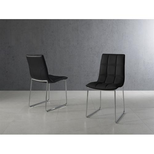 The Leandro Black Eco-leather Dining Chairs
